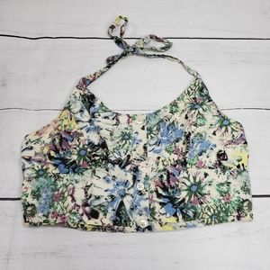 Urban Outfitters Pins and Needles Foral Crop Top